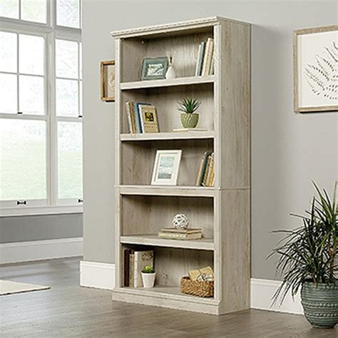 Sauder Bookcase White by Sauder Chalked Chestnut 5 Shelf Bookcase 423033 The Home