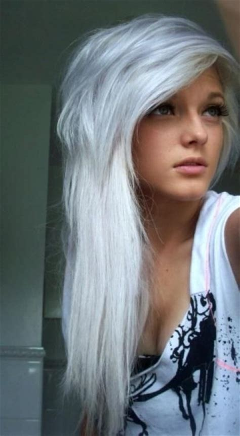 Hair Color White by Silver Hair Silver Hair Hairstyles And