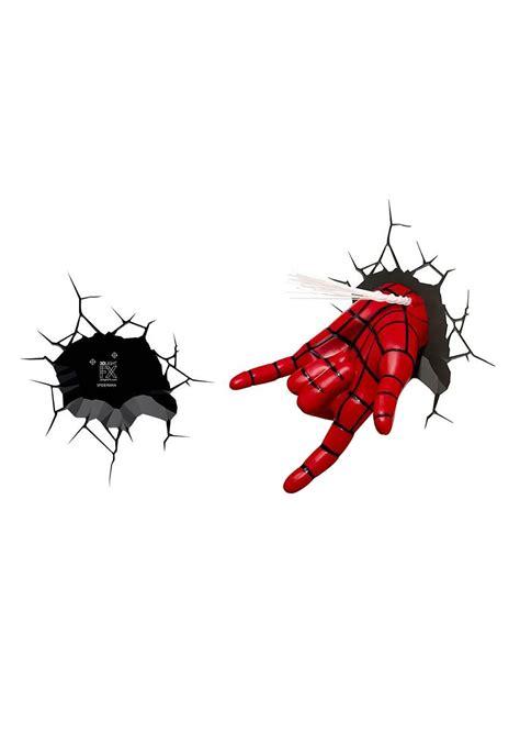spiderman hand 3d wall light