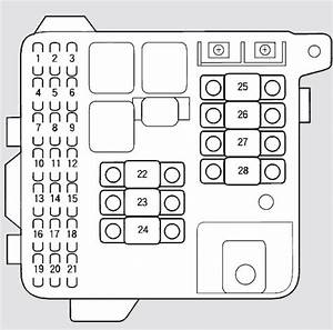 Acura Rl  2003 - 2004  - Fuse Box Diagram