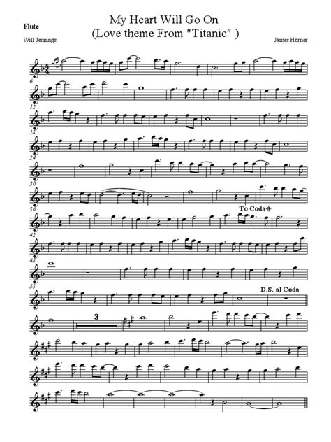 My Heart Will Go on Flute Music Notes - Video Search Engine