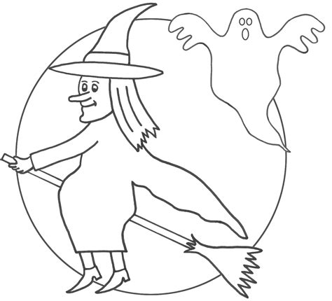 printable witch coloring pages  kids