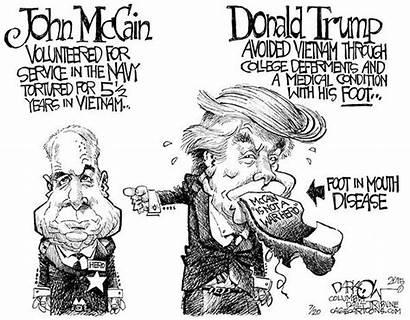 Cartoon Donald Trump Political Mccain John Cartoons
