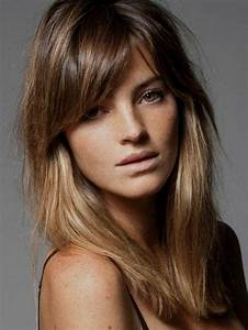 Frange Cheveux Mi Long : coupe de cheveux mi long frange oh moving ~ Melissatoandfro.com Idées de Décoration