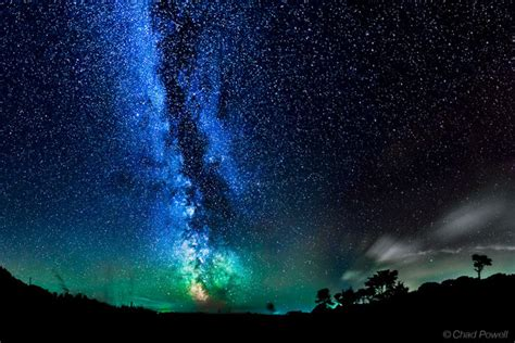 Milky Way Galaxy Eerie Airglow Paint Night Sky Amazing