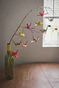 Mobile Basteln Origami : origami mobil papierarbeiten ~ Orissabook.com Haus und Dekorationen