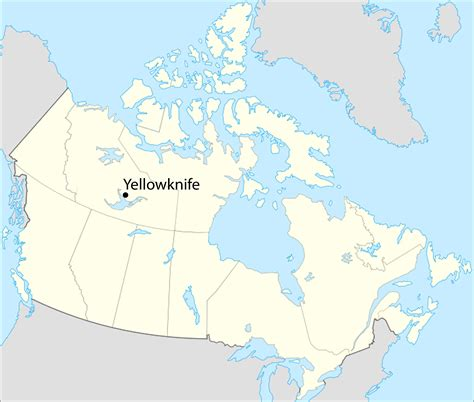 canada map yellowknife