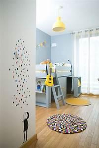 chambre bebe deco pour son eveil cote maison With comment faire la couleur orange en peinture 7 diy deco comment accrocher des photos avec style