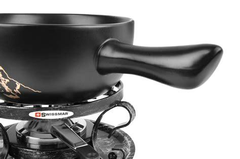 swissmar gruyere ceramic fondue set  piece cutlery