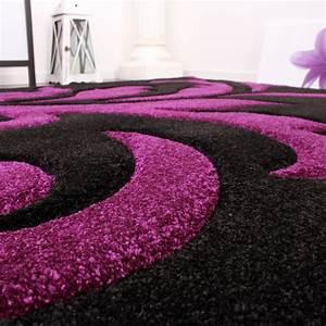 Teppich Grau Lila : designer teppich festival mit konturenschnitt muster lila ~ Whattoseeinmadrid.com Haus und Dekorationen
