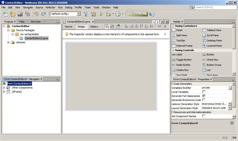 C Form Design Tools by Designing A Swing Gui In Netbeans Ide Tutorial