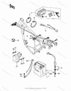 Kawasaki Motorcycle 1978 Oem Parts Diagram For Chassis Electrical Equipment