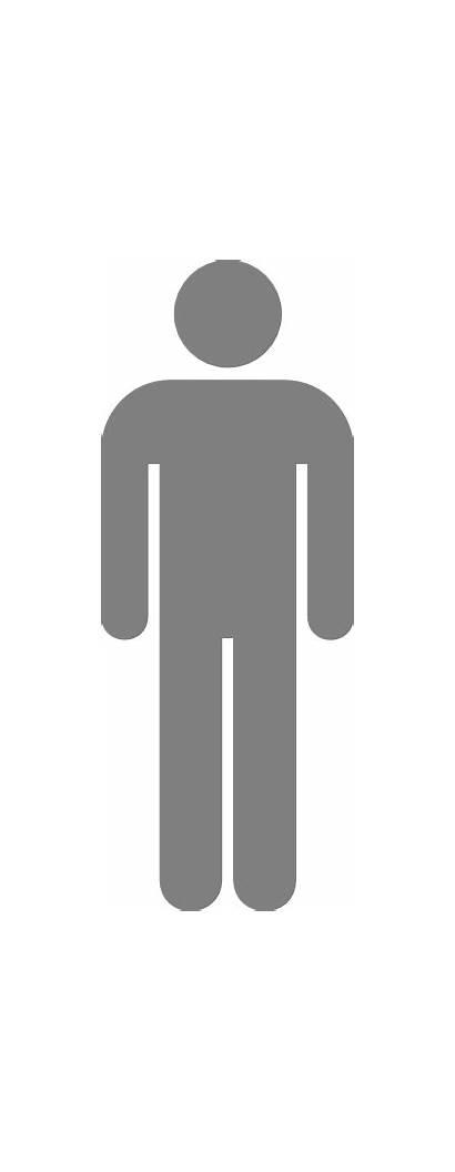 Icon Grey Gray Male Toilet Symbol Washroom