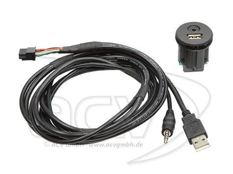 usb aux mm chassi kontakt med  kabel ullared