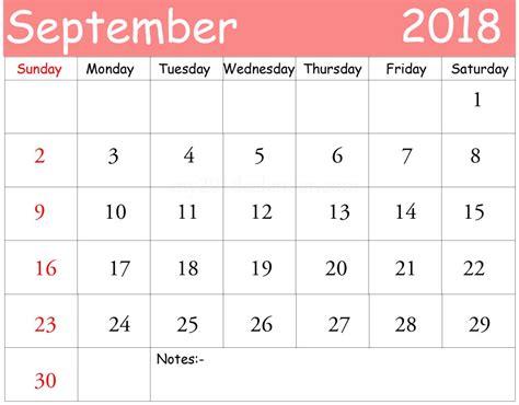 september  calendar printable   word