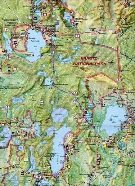maiwald karte nationalpark mueritz offizielle rad und