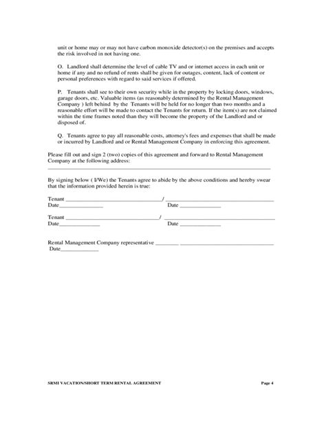 form 68 rental agreement short term rental agreement free download