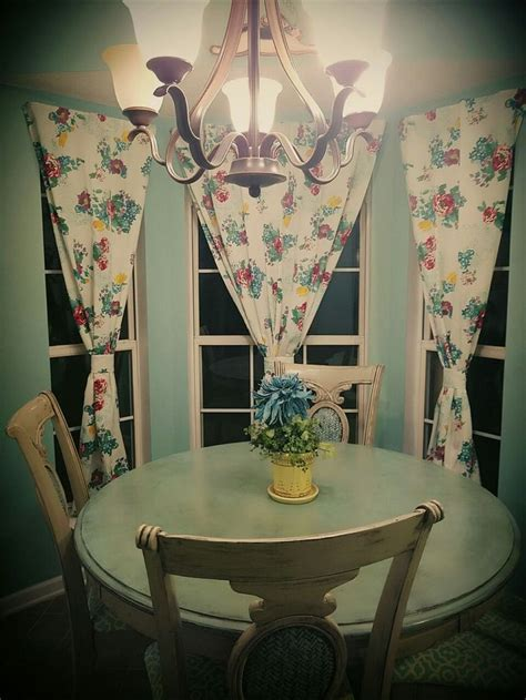 Diy curtains from pioneer woman table cloths   Dining