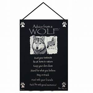 Manual Weavers  U0026quot Advice From A Wolf U0026quot  Wall Hanging