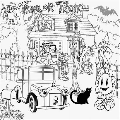 Cool Things Stuff Printable Coloring Halloween Pages