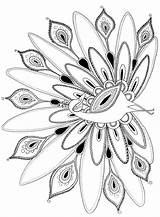 Coloring Pages Peacock Printables Adult Peacocks sketch template