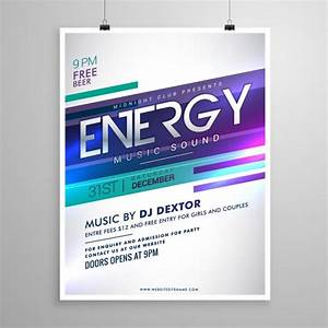 Music party poster template Vector | Free Download