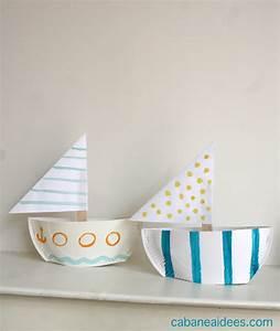 Fabriquer Un Personnage En Carton : comment fabriquer un bateau dans une assiette en carton ~ Zukunftsfamilie.com Idées de Décoration