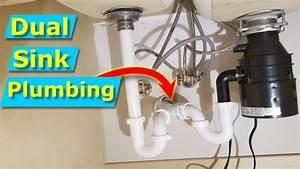 Kitchen Sink Drain Plumbing Diagram With Garbage Disposal