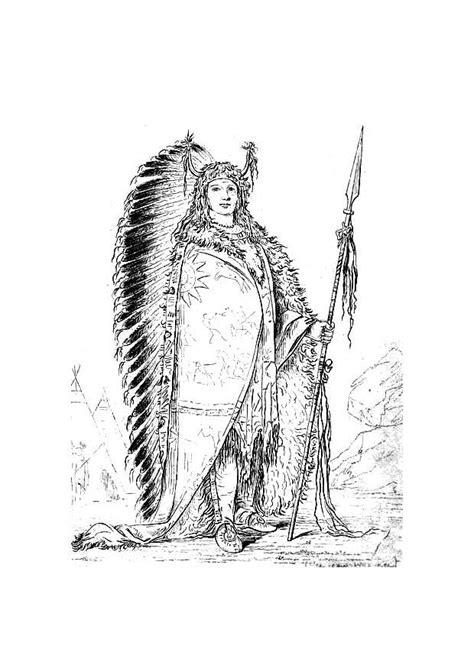 dibujo  colorear indio sioux img