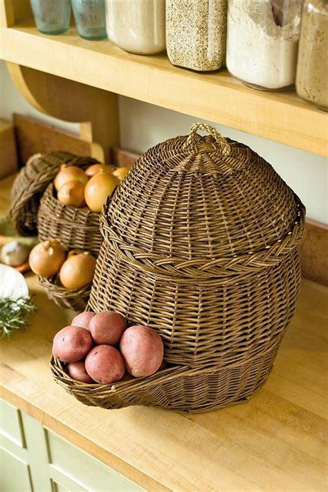 onion potato storage baskets gardenerscom