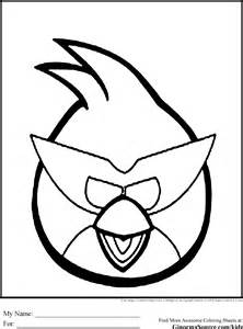 Red Angry Bird Coloring Pages