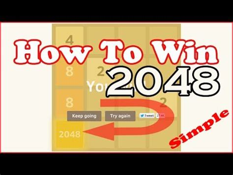 How To Win '2048' Game Puzzle  Winning Complete Gameplay