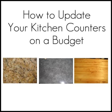 kitchen countertop ideas on a budget updating your kitchen counters on a budget home stories