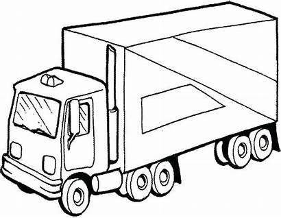 Coloring Truck Semi Pages Drawing Diesel Trailer