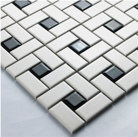 black ceramic tile 12x12 white color strip ceramic mixed black color square ceramic mosaic tiles kitchen backsplash wall