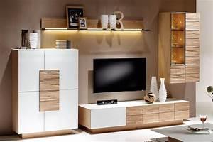 Möbel Shop Online : wohnwand v montana 235 wei wildeiche von voglauer ~ Lateststills.com Haus und Dekorationen
