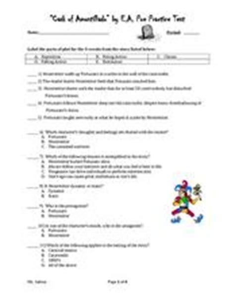 cask  amontillado  ea poe practice test worksheet