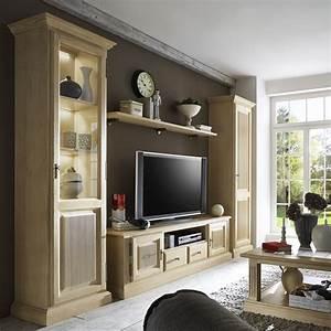 Tv Schrank Modern : wohnwand casapino 4 teilig 2 vitrinen tv schrank 1 wandbord aus pinie massiv casamia wohnen ~ A.2002-acura-tl-radio.info Haus und Dekorationen