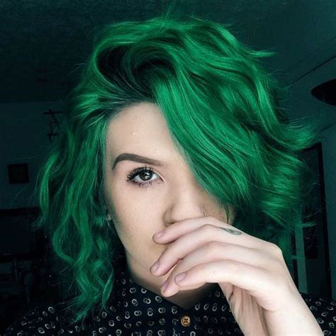 glamorous green hairstyle ideas  update