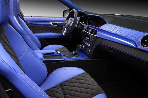 mercedes c63 amg interieur mercedes c63 amg met blauw krokodillenleer autoblog nl