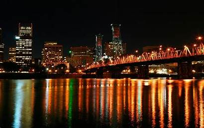 Portland Downtown Bridge Hawthorne Oregon Wallpapers Desktop