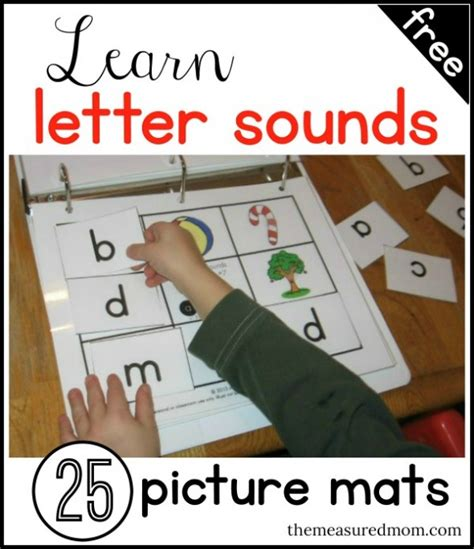 free letter and sound learning picture mats 25 free 354 | cap147