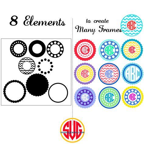 circle frames  monograms svg dxf eps svgmonograms