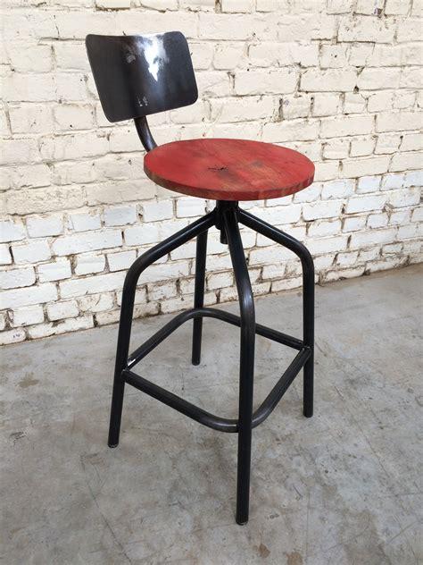 tabouret de bar colore tabouret de bar tbd color tabh008 giani desmet meubles indus bois m 233 tal et cuir