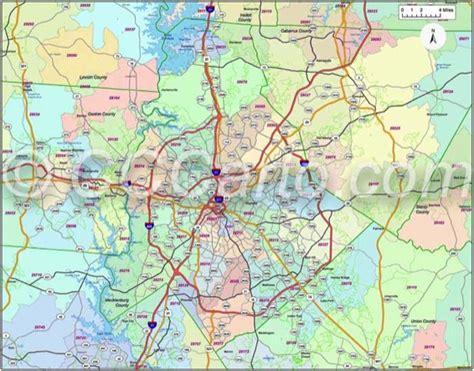 Zip Code Map Charlotte Nc