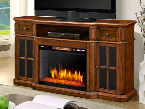 Sinclair Electric Fireplace Tv Stand In Aged Cherry
