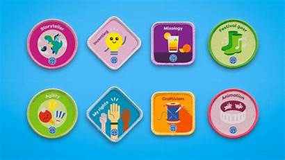Badges Badge Girlguiding Guides Guiding Interest Rainbow
