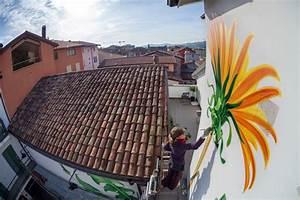 Mona carons murals of weeds slowly overtake walls and for Mona carons murals of weeds slowly overtake walls buildings