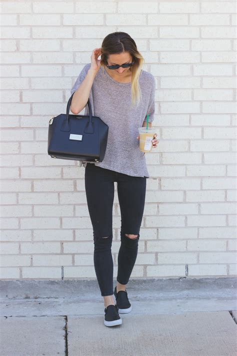 Casual Tee u0026 Slip-On Sneakers - LivvyLand   Austin Fashion and Style Blogger