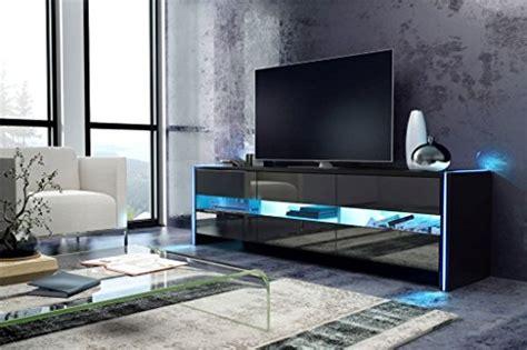 Tv Schrank Lowboard Sideboard Sky (schwarz Matt / Schwarz